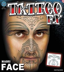 Picture of Maori (New Zealand) FaceTattoo Kit