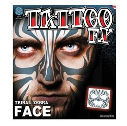 Picture of Tribal Zebra Face Temporary Tattoo