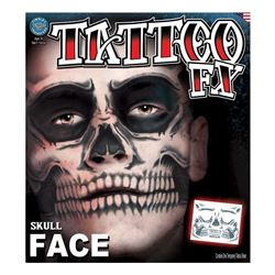 Picture of Skull Face - Temporary Face Tattoo FX