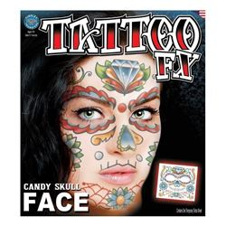 Picture of Sugar Skull - Temporary Face Tattoo FX