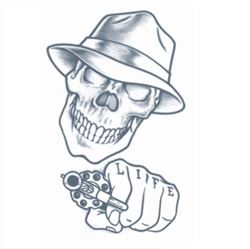 Picture of Prison Stick Up Skull