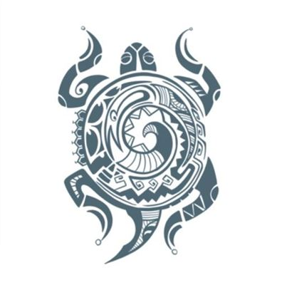 Picture of Tribal Turtle Temporary Tattoo