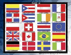 Picture of Flags 2 Stencil