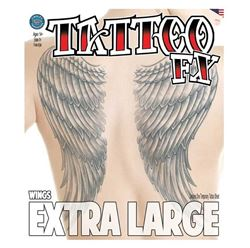 Picture of Extra Large -  Wings Temporary Tattoo