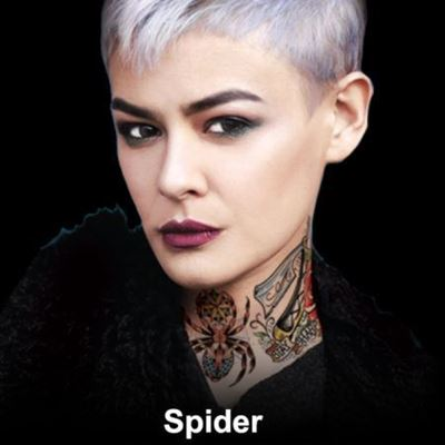 Picture of Spider - Neck Tattoo